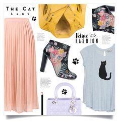 """Cat Lady"" by marina-volaric ❤ liked on Polyvore featuring Camilla Elphick, Bobeau, Sessions, Christian Dior, NARS Cosmetics and catstyle"