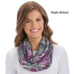 Abstract Paisley Infinity Scarf