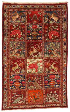 Gabbeh - Bakhtiari Persian Carpet  | gbh1820-861 | CarpetU2