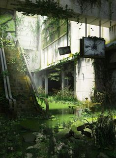 abandoned places Post-apocalypse nature taking over abandoned place Post Apocalypse, Apocalypse Aesthetic, Apocalypse World, Abandoned Cities, Abandoned Houses, Abandoned Mansions, Abandoned Malls, Abandoned Vehicles, Arte Zombie