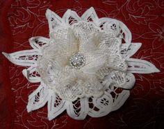 Handmade Fabric  Flower supply battenburg lace vintage lace color