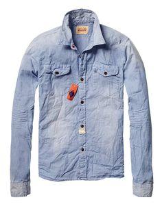Heavy washed farmer shirt - Shirts - Official Scotch & Soda Online Fashion & Apparel Shops