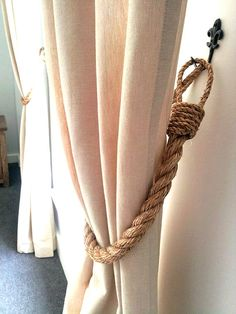 Hey, I found this really awesome Etsy listing at https://www.etsy.com/listing/268634929/rustic-manila-rope-curtain-tiebacks