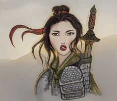 An incredible Swedish woman who does it all: she draw, paints and photograph! Here's a beautiful drawing of Mulan!