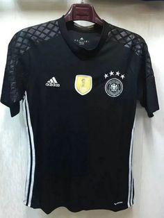 2016 Germany Goalkeeper Black Thailand Soccer Jersey