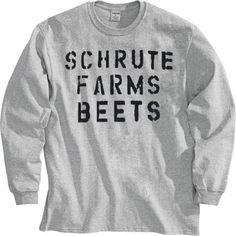 The Office Schrute Farms Beets Heather Gray Adult Long Sleeve Shirt – office life