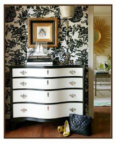 painteddresseronmfamb1png 328400 black painted furniture ideas