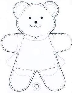 See Best Photos of Felt Bear Template. Teddy Bear Felt Template Bear Cut Out Pattern Winnie the Pooh Free Felt Templates Felt Teddy Bear Patterns Free Small Teddy Bear Patterns Felt Patterns, Applique Patterns, Craft Patterns, Sewing Patterns, Applique Templates, Knitting Patterns, Sewing Toys, Sewing Crafts, Sewing Projects