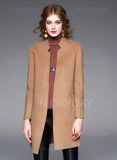 Jacken & Mäntel - $235.38 - Wolle & Wollmischung Polyester Khaki…