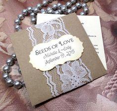 Custom Seed Packets Wedding Packet Boho By Minikinseedpackets Ideas Pinterest Favors And Weddings