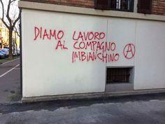 Scritto sul Muro Wall Writing, Italian Quotes, Star Wall, Wonderwall, Feeling Happy, Good Advice, Quotations, Something To Do, Graffiti