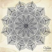 Mandala. kolo ornament vzor. ročník dekorativní prvky. ručně tažené pozadí. islám, arabština, indický, osmanské motivy Stock Ilustrace