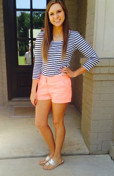 pretty casual shorts summer outfit combinations my styl Adrette Outfits, Preppy Outfits, Short Outfits, Spring Outfits, Fashion Outfits, Fashion 2017, Church Outfits, Fashion Top, Fashion Black