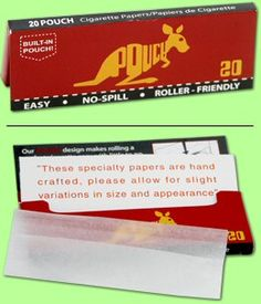 uniqure rolling papers with pouch. Plus more!