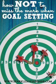 Want to actually reach your goals this year? Learn how NOT to miss the mark when goal setting at Sparkles of Sunshine today!