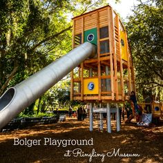 Bolger playground Ringling Museum of Art is free on Mondays. They have beautiful grounds full of unique banyan trees, dwarf gardens and a super fun playground. There is no admission fee to the playground or the gardens. Enjoy anytime