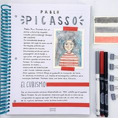 Sculpture pablo picasso apuntes, learn the rules like . Bullet Journal School, Bullet Journal Notes, Beautiful Notes, Pretty Notes, Class Notes, School Notes, Study Inspiration, Bullet Journal Inspiration, Pablo Picasso