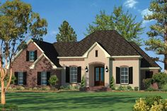 French Country Plan: 2,091 Square Feet, 3 Bedrooms, 2 Bathrooms - 041-00103