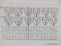 *かぎ針編み*カンタン帽子のカンタン編み図。