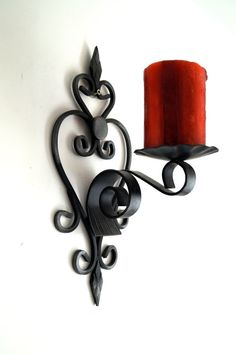 WALL SCONCE Swedish Mid-century design Black by vintagdesign