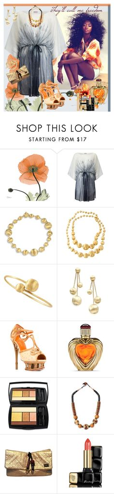"""""""They'll call me freedom"""" by julyralewis ❤ liked on Polyvore featuring Phase Eight, Marco Bicego, Charlotte Olympia, Victoria's Secret, Lancôme, NOVICA, Louis Vuitton, Guerlain and Yves Saint Laurent"""