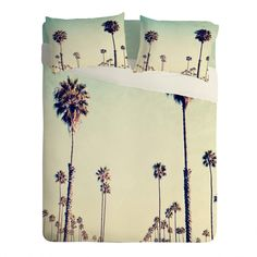 #DENYWishList Bree Madden California Palm Trees Sheet Set Lightweight | DENY Designs Home Accessories
