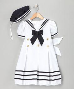 Look what I found on #zulily! White Mariner Dress & Hat - Infant, Toddler & Girls #zulilyfinds