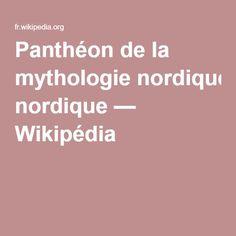 Panthéon de la mythologie nordique — Wikipédia