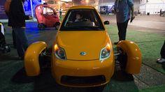 We drove a three-wheeled car down the Las Vegas Strip: http://www.theverge.com/2015/1/8/7516977/elio-motors-three-wheeled-car-ces-2015