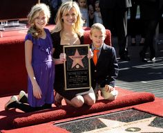 Reese Witherspoon (with her daughter Ava and son Deacon) receives a star on the Hollywood Walk of Fame - December 1, 2010.
