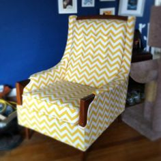 My newly reupholstered chair.