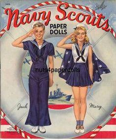 VINTAGE NAVY SCOUTS PAPER DOLLS