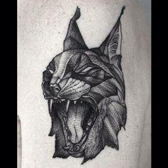 Dotwork Lynx tattoo
