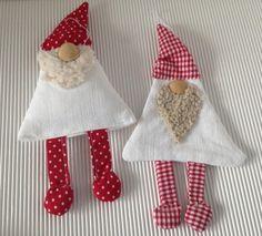 Weihnachtswichtel 2er Set rot/weiss von einfachschön! auf DaWanda.com