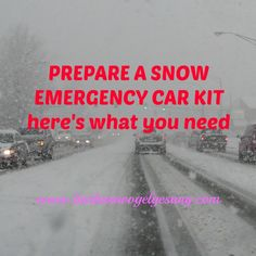 Ideas for a snow emergency car kit to keep your family safe this winter.