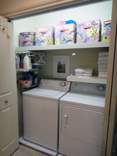 Worth Pinning: Laundry & Linen Closet Project