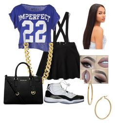 """Untitled #36"" by parislanee on Polyvore featuring Abercrombie & Fitch, !M?ERFECT, Bony Levy, CC SKYE, MICHAEL Michael Kors and NIKE"
