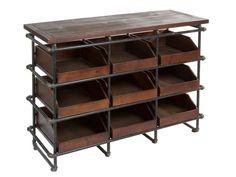 Mueble Expositor madera metal Aerte http://www.artesaniadecoracion.com/tienda/Mueble-Expositor-madera-metal-Aerte.html