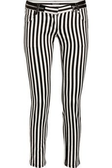 Balmain striped jeans. totally would wear these when I get skinny.