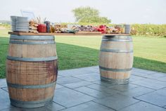cheese patter on wine barrels