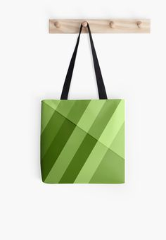 Greenery modern geometric lines Tote Bag by #PLdesign #greenery #geometric #modern