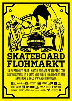 Skateboard Flohmarkt in Cologne. Design by: www.endor-designs.com