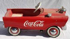coca cola pedal car 50's... Love!