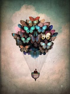 Salvador dali the butterfly effect hearts love this surreal butterfly
