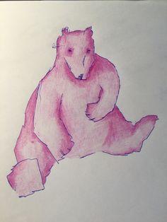 #eintageinbaer Polarlichtpinker Bär