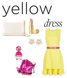 """""""Yellow and fresh"""" by wasan2008 on Polyvore featuring Oscar de la Renta, Moschino, Marc Jacobs, Yves Saint Laurent and Too Faced Cosmetics"""