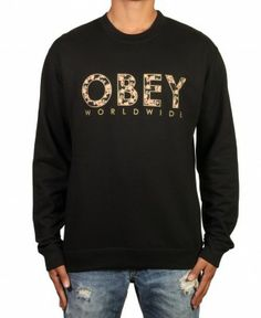 on sale cd5c0 726ae Obey - Floral Worldwide Crewneck Sweater -  49