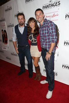 Joey Fatone, Diana DeGarmo and Ace Young at DONNY & MARIE - Christmas in Los Angeles (12/4)