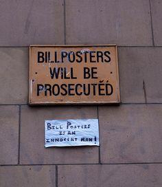 Bill Posters is an innocent man!