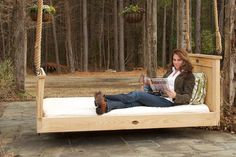 I have always wanted a bed swing, it will be on my porch one day!  Ahhhh relaxing!